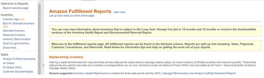 Amazon-Fulfillment-Reports