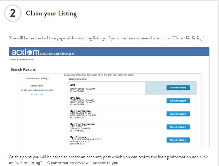 Claim-Listing