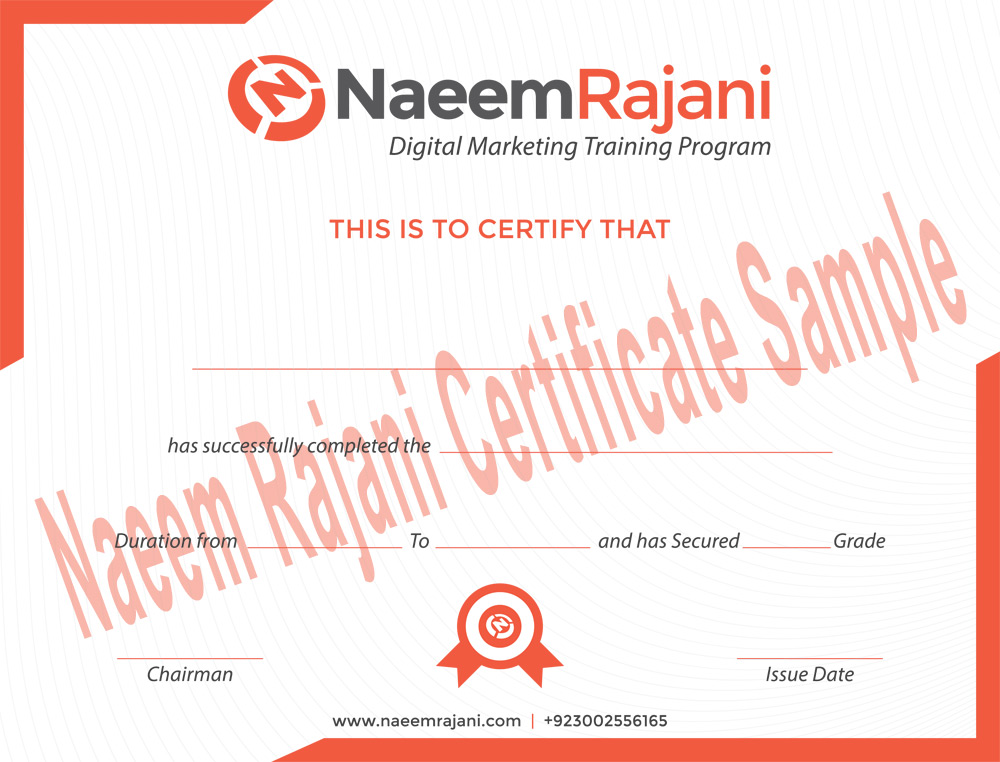 Affiliate Marketing Certificate