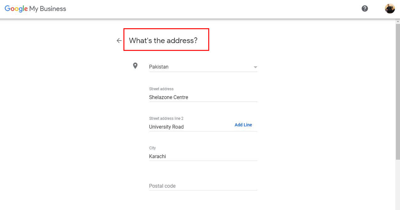 3-Enter Your Business Address