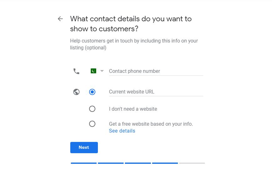 Google my business other information